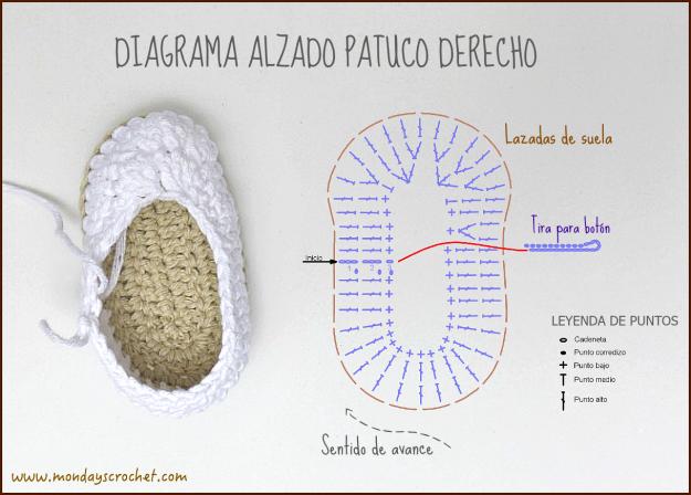 Diagrama alzado patuco derecho