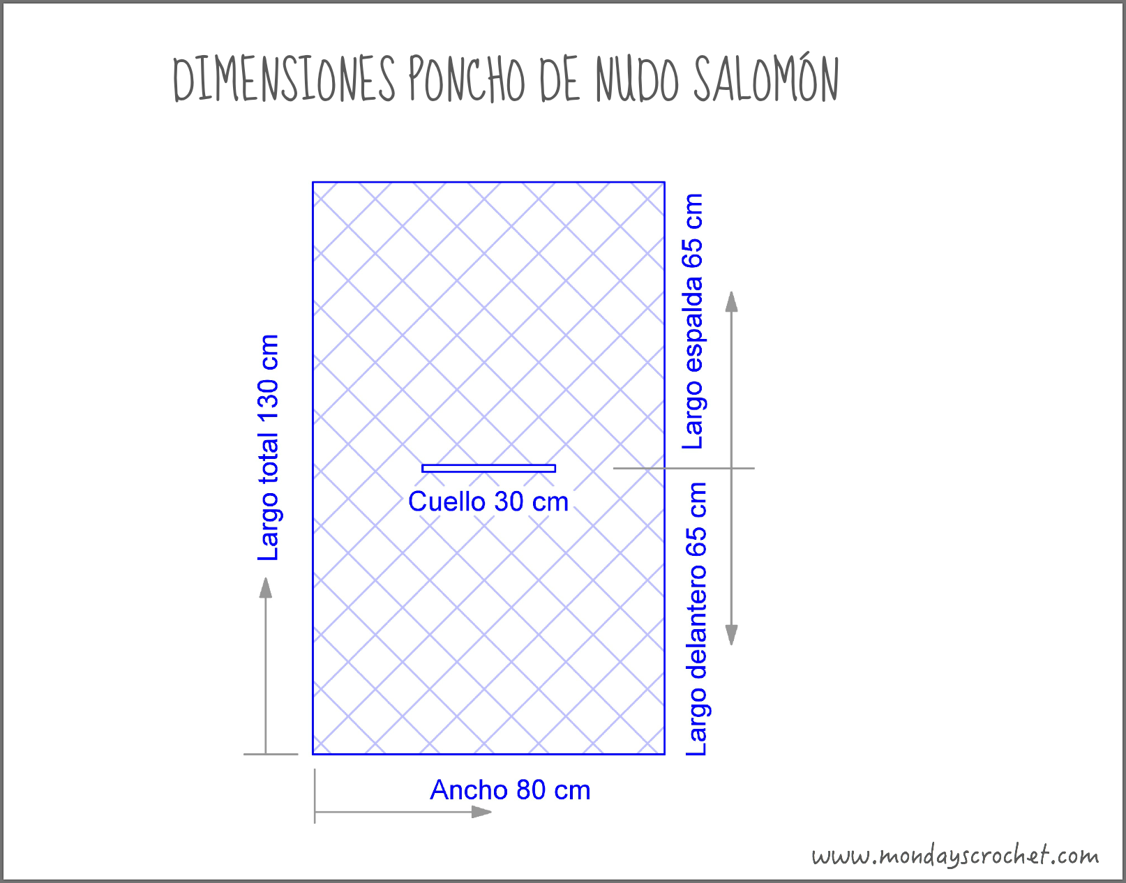 PONCHO DE CROCHET TEJIDO CON NUDO SALOMÓN / CROCHET PONCHO WITH ...
