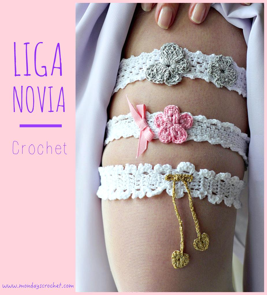LIGAS PARA NOVIA DE CROCHET / GARTERS FOR BRIDES  